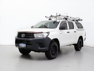 2017 Toyota Hilux GUN125R Workmate (4x4) White 6 Speed Automatic Dual Cab Utility.