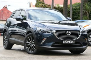 2015 Mazda CX-3 DK S Touring (FWD) Deep Crystal Blue 6 Speed Automatic Wagon.