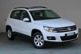 2014 Volkswagen Tiguan 5N MY14 132TSI DSG 4MOTION Pacific Candy White 7 Speed.