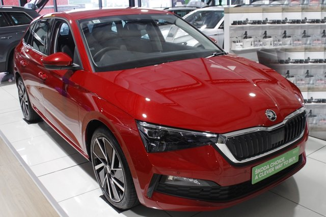 New Skoda Scala NW MY21 110TSI DSG Launch Edition Parramatta, 2021 Skoda Scala NW MY21 110TSI DSG Launch Edition Velvet Red 7 Speed Sports Automatic Dual Clutch