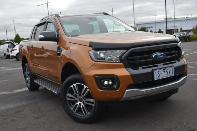Used Ford Ranger PX MkIII 2020.75MY Wildtrak Essendon Fields, 2020 Ford Ranger PX MkIII 2020.75MY Wildtrak Orange 10 Speed Sports Automatic Double Cab Pick Up