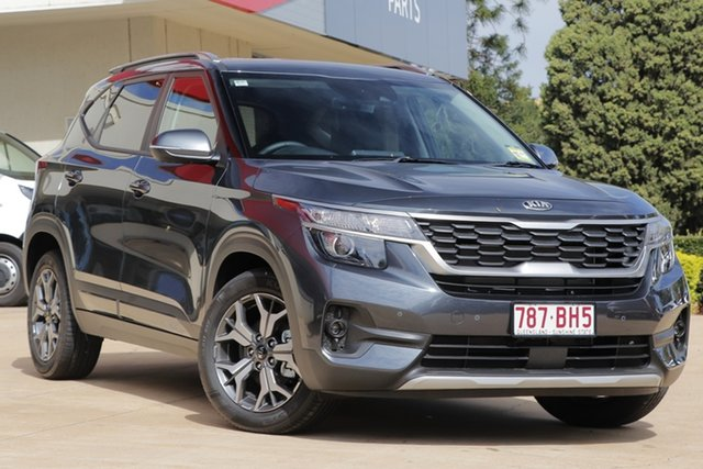 Demo Kia Seltos SP2 MY21 Sport+ 2WD Toowoomba, 2021 Kia Seltos SP2 MY21 Sport+ 2WD Gravity Grey 1 Speed Constant Variable Wagon