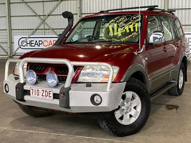 Used Mitsubishi Pajero NP MY05 Exceed Rocklea, 2004 Mitsubishi Pajero NP MY05 Exceed Red 5 Speed Sports Automatic Wagon