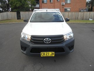 2016 Toyota Hilux GUN122R Workmate White 5 Speed Manual Cab Chassis