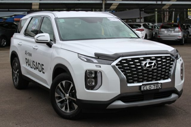 Demo Hyundai Palisade LX2.V1 MY21 AWD Tuggerah, 2020 Hyundai Palisade LX2.V1 MY21 AWD White Cream 8 Speed Sports Automatic Wagon