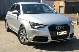 2012 Audi A1 8X MY12 Sportback 1.6 TDI Attraction Silver 7 Speed Auto Direct Shift Hatchback.