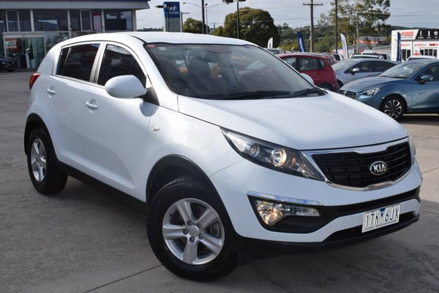 Used Kia Sportage SL MY14 Si 2WD Ferntree Gully, 2014 Kia Sportage SL MY14 Si 2WD White 6 Speed Manual Wagon