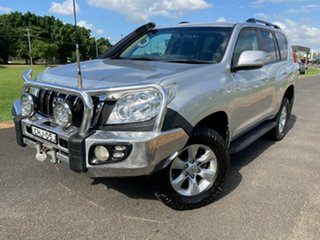 2012 Toyota Landcruiser Prado KDJ150R GXL Silver Pearl 6 Speed Manual Wagon.
