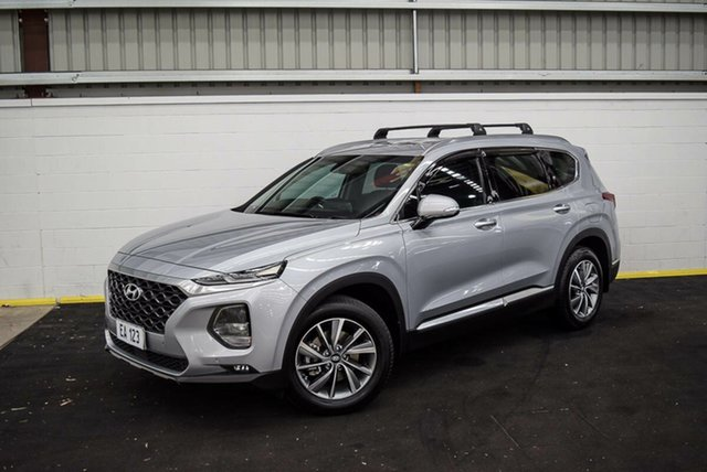 Used Hyundai Santa Fe TM MY19 Elite Canning Vale, 2018 Hyundai Santa Fe TM MY19 Elite Silver 8 Speed Sports Automatic Wagon