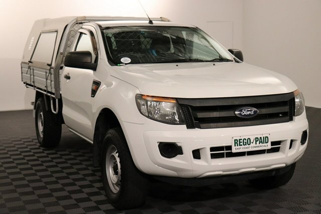 Used Ford Ranger PX XL Hi-Rider Acacia Ridge, 2015 Ford Ranger PX XL Hi-Rider White 6 speed Automatic Cab Chassis