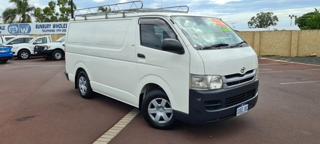 Used Toyota HiAce KDH201R MY08 LWB East Bunbury, 2008 Toyota HiAce KDH201R MY08 LWB White 5 Speed Manual Van