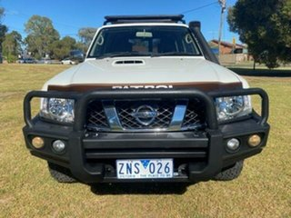 2013 Nissan Patrol GU VIII ST (4x4) White 4 Speed Automatic Wagon