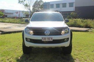 2015 Volkswagen Amarok 2H MY15 TDI400 4Mot Trendline White 6 Speed Manual Cab Chassis.