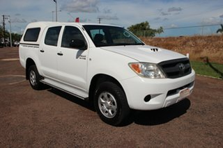 2007 Toyota Hilux KUN26R MY07 SR Glacier White 5 Speed Manual Utility.