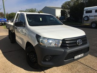 2018 Toyota Hilux TGN121R Workmate White Sports Automatic.