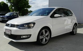 2013 Volkswagen Polo 6R MY14 77TSI Comfortline White 6 Speed Manual Hatchback.