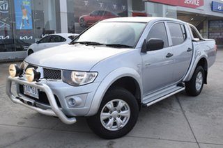 2012 Mitsubishi Triton MN MY12 GL-R Double Cab Silver 4 Speed Automatic Utility