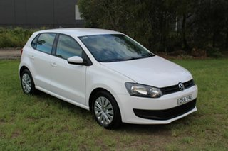 2014 Volkswagen Polo 6R MY14 Trendline White 5 Speed Manual Hatchback.