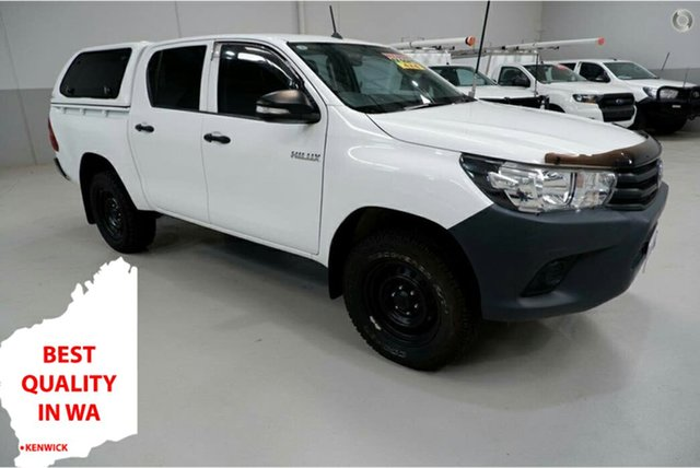 Used Toyota Hilux GUN125R Workmate Double Cab Kenwick, 2016 Toyota Hilux GUN125R Workmate Double Cab White 6 Speed Sports Automatic Utility
