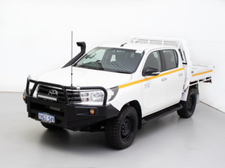 2017 Toyota Hilux GUN126R MY17 SR (4x4) White 6 Speed Automatic Dual Cab Chassis