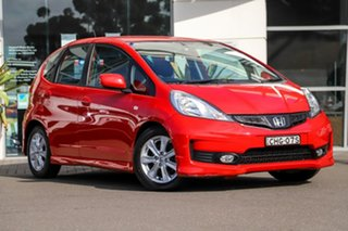 2012 Honda Jazz GE MY12 VTi Red 5 Speed Automatic Hatchback.