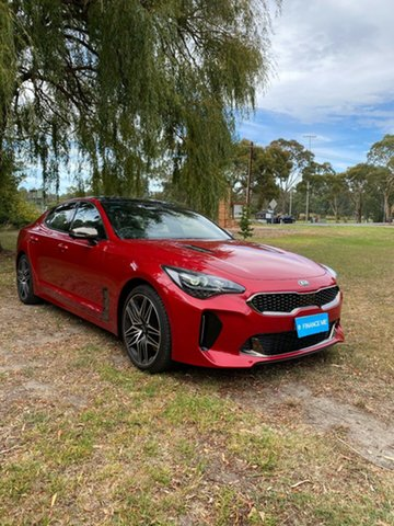 Demo Kia Stinger CK MY21 GT Fastback Mount Barker, 2020 Kia Stinger CK MY21 GT Fastback Hichroma Red 8 Speed Automatic Sedan