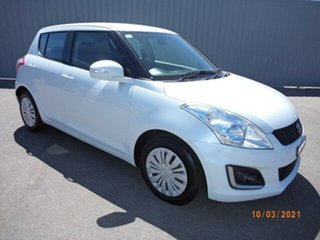 2014 Suzuki Swift FZ MY14 GL Navigator White 4 Speed Automatic Hatchback