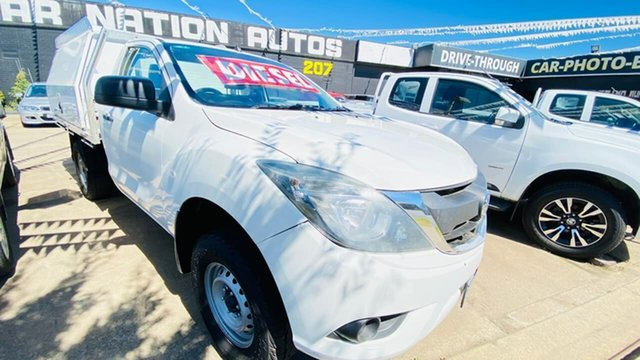 Used Mazda BT-50 UP0YD1 XT 4x2 Hi-Rider Maidstone, 2015 Mazda BT-50 UP0YD1 XT 4x2 Hi-Rider White 6 Speed Sports Automatic Cab Chassis