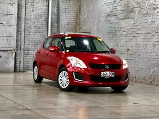 2016 Suzuki Swift FZ MY15 GL Red 4 Speed Automatic Hatchback.