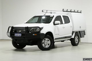 2017 Holden Colorado RG MY17 LS (4x4) White 6 Speed Manual Crew Cab Chassis.