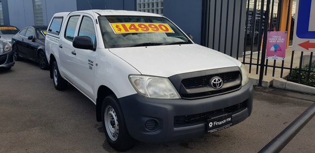 Used Toyota Hilux TGN16R 09 Upgrade Workmate Prospect, 2010 Toyota Hilux TGN16R 09 Upgrade Workmate White 4 Speed Automatic Dual Cab Pick-up