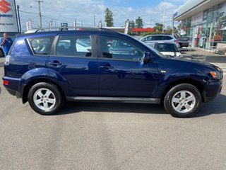 2012 Mitsubishi Outlander ZH MY12 LS 2WD Blue 6 Speed Constant Variable Wagon.