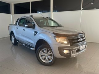 2012 Ford Ranger PX Wildtrak Double Cab Silver, Chrome 6 Speed Sports Automatic Utility.