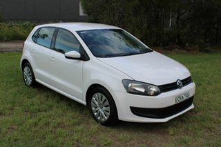 2014 Volkswagen Polo 6R MY14 Trendline White 5 Speed Manual Hatchback