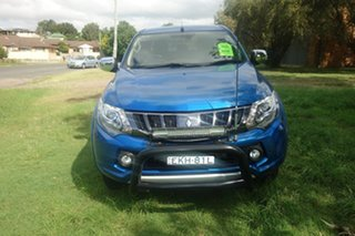 2018 Mitsubishi Triton MQ MY18 Exceed Double Cab Blue 5 Speed Sports Automatic Utility.