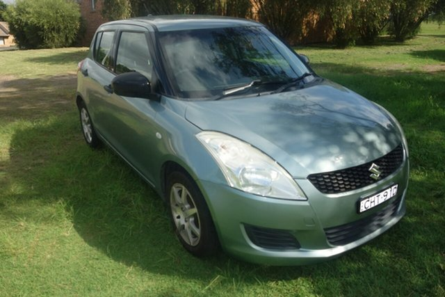 Used Suzuki Swift FZ GA East Maitland, 2011 Suzuki Swift FZ GA Green 5 Speed Manual Hatchback