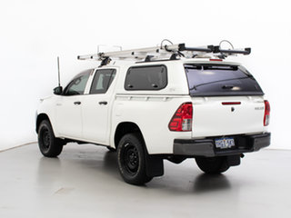 2017 Toyota Hilux GUN125R Workmate (4x4) White 6 Speed Automatic Dual Cab Utility