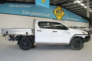 2017 Toyota Hilux GUN126R SR (4x4) White 6 Speed Manual Dual Cab Chassis