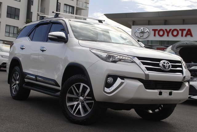 Pre-Owned Toyota Fortuner GUN156R Crusade Upper Mount Gravatt, 2015 Toyota Fortuner GUN156R Crusade Crystal Pearl 6 Speed Automatic Wagon