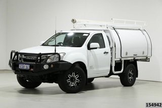 2014 Isuzu D-MAX TF MY14 SX (4x4) White 5 Speed Manual Cab Chassis