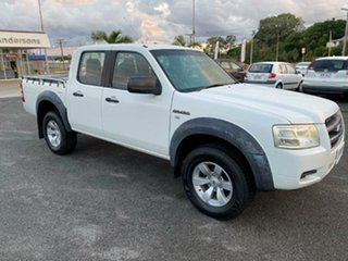 2007 Ford Ranger PJ XL Crew Cab White 5 Speed Automatic Utility.
