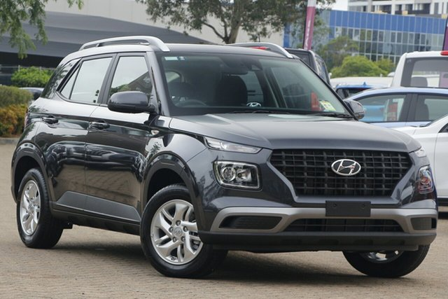 New Hyundai Venue QX.V3 MY21 Nunawading, 2021 Hyundai Venue QX.V3 MY21 Cosmic Grey 6 Speed Automatic Wagon