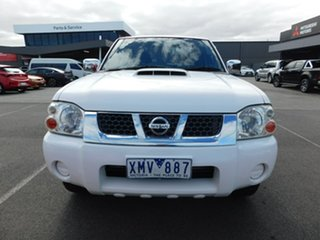 2010 Nissan Navara D22 MY2010 ST-R White 5 Speed Manual Utility.