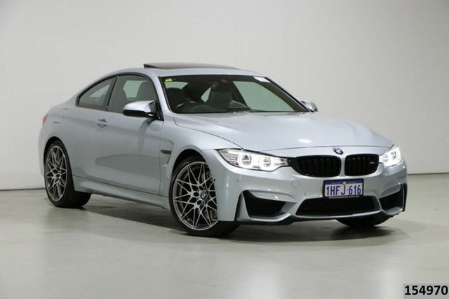 Used BMW M4 F82 LCI MY17 Competition Bentley, 2016 BMW M4 F82 LCI MY17 Competition Silver 7 Speed Auto Dual Clutch Coupe
