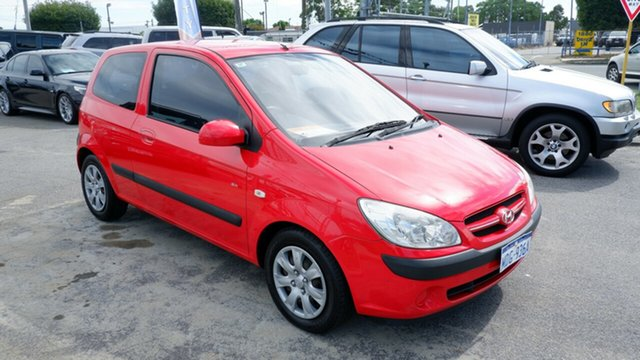 Used Hyundai Getz TB MY06 Maddington, 2007 Hyundai Getz TB MY06 Red 5 Speed Manual Hatchback
