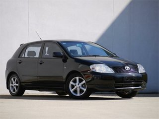 2003 Toyota Corolla ZZE122R Conquest Black 5 Speed Manual Hatchback.