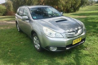 2010 Subaru Outback B5A MY10 2.0D AWD Premium Silver 6 Speed Manual Wagon.