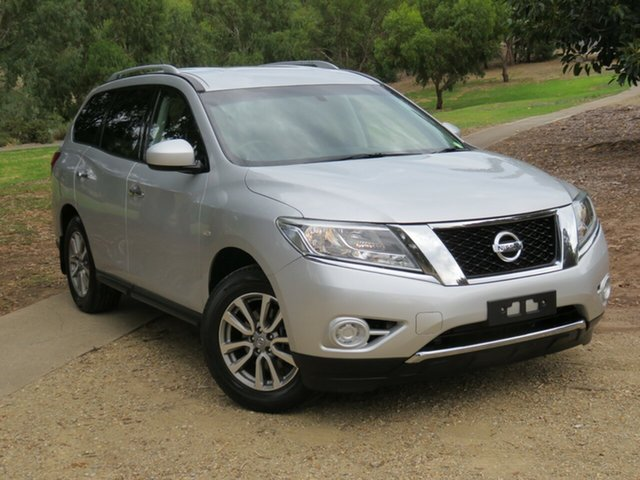 Used Nissan Pathfinder R52 MY15 ST X-tronic 2WD Morphett Vale, 2015 Nissan Pathfinder R52 MY15 ST X-tronic 2WD Silver 1 Speed Constant Variable Wagon