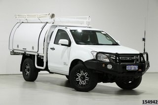 2014 Isuzu D-MAX TF MY14 SX (4x4) White 5 Speed Manual Cab Chassis.
