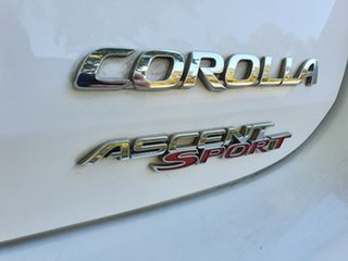 2012 Toyota Corolla ZRE182R Ascent Sport White 7 Speed Constant Variable Hatchback